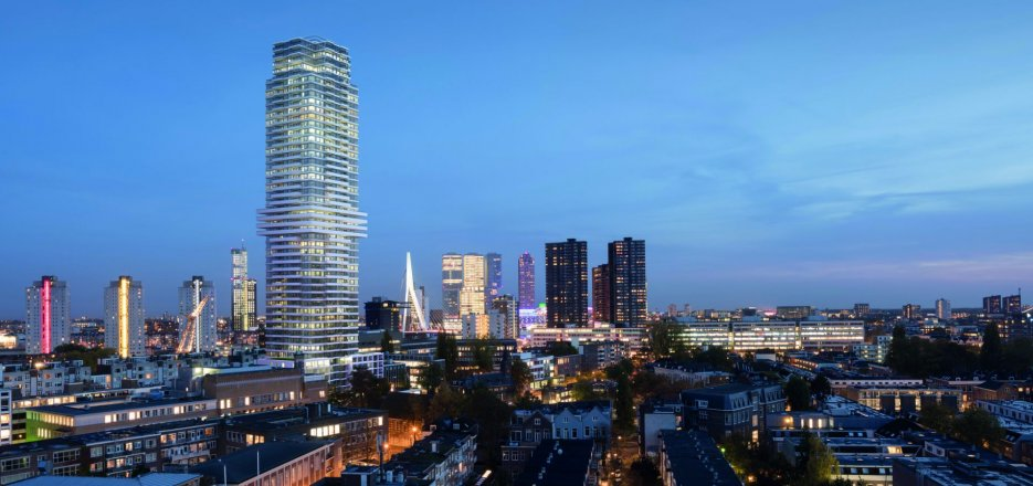 The cooltower wonen op hoogte in het nieuwste icoon van for Direct wonen rotterdam