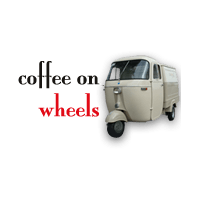 Coffee on wheel logo