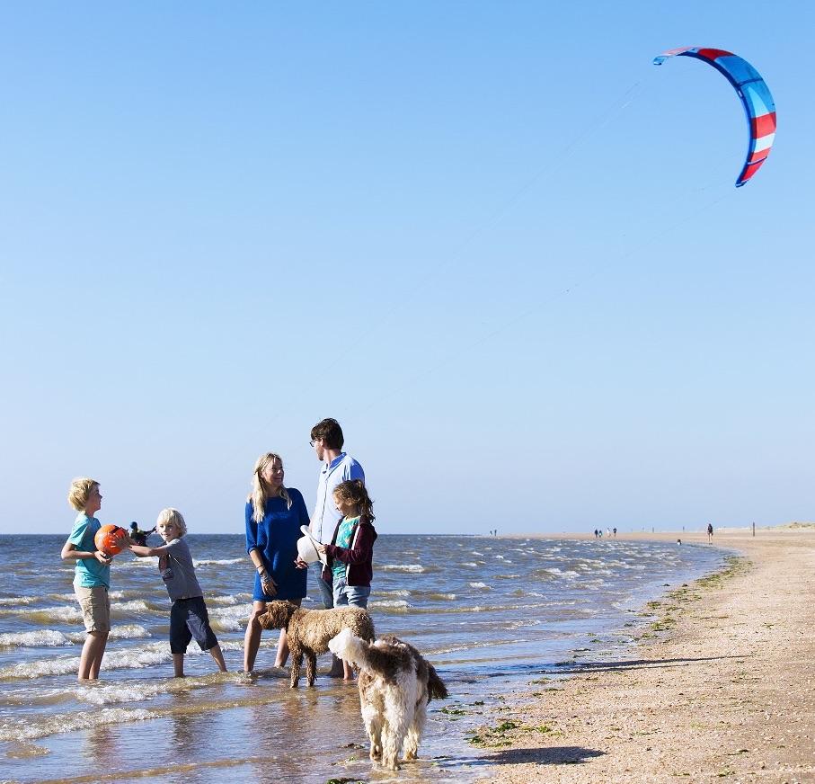 strand Voorne-Putten nabij Rotterdam
